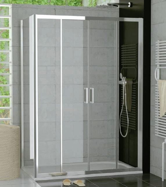 Drzwi czteroczęściowe suwane SanSwiss Ronal Top-Line 120cm połysk TOPS412005007