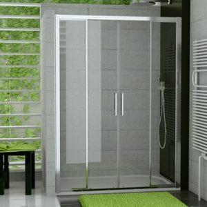 Drzwi czteroczęściowe suwane SanSwiss Ronal Top-Line 140cm połysk TOPS414005007