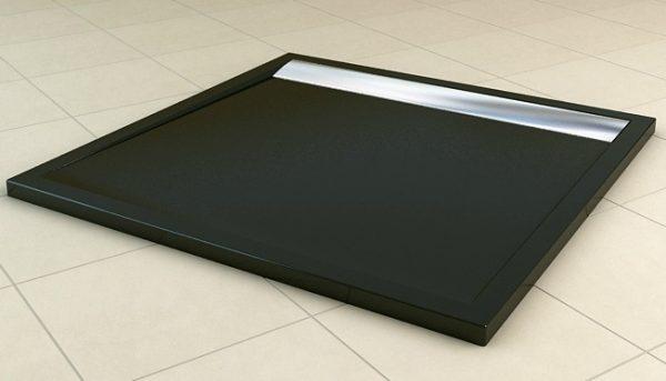 Zdjęcie Brodzik konglomeratowy kwadratowy SanSwiss Ronal Ila WIQ 90×90 czarny/połysk WIQ09050154