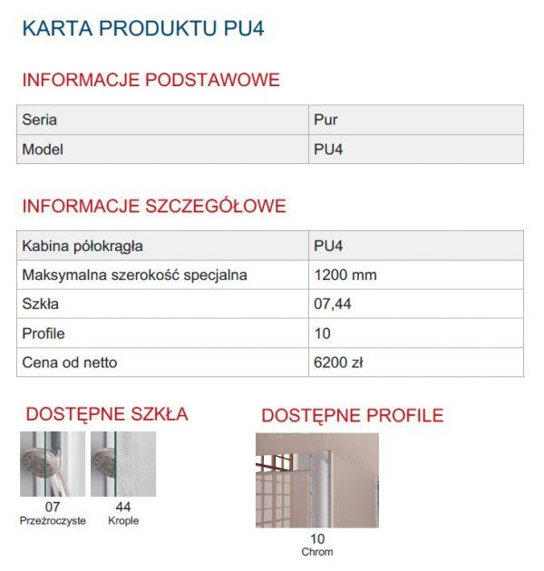Zdjęcie Kabina narożna 1/4 koła dwuczęściowa bez profili SanSwiss Ronal Pur PU4 90×90 PU455SM11007
