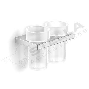 Uchwyt z dwoma szklankami Stella 05.412
