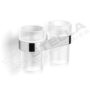 Uchwyt z dwoma szklankami Stella Soul 06.412