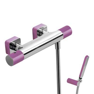 Zestaw natryskowy termostatyczny Tres Loft colors fioletowy 20016409VI