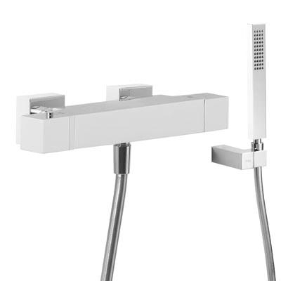 Zestaw natryskowy termostatyczny Tres Slim exclusive biały-chrom 20216409BL