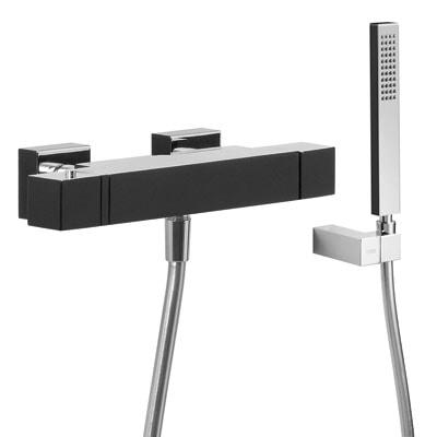 Zestaw natryskowy termostatyczny Tres Slim exclusive czarny-chrom 20216409NE 20216409NE