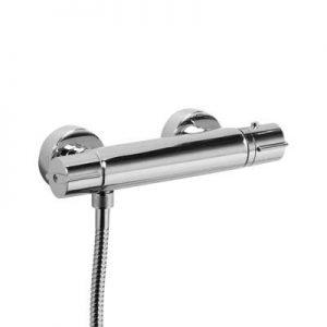 Zestaw natryskowy z baterią termostatyczną Tres Flat-tres 20419603 chrom