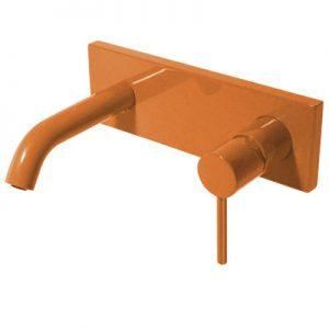 Bateria umywalkowa podtynkowa Tres Study colors pomarańczowy 26220050TNA