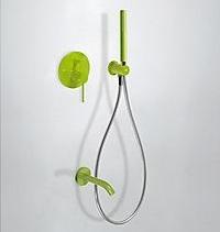 Zdjęcie Zestaw prysznicowy z baterią podtynkową Tres Study-Colors zielony 262.180.03.TV.E @ ^