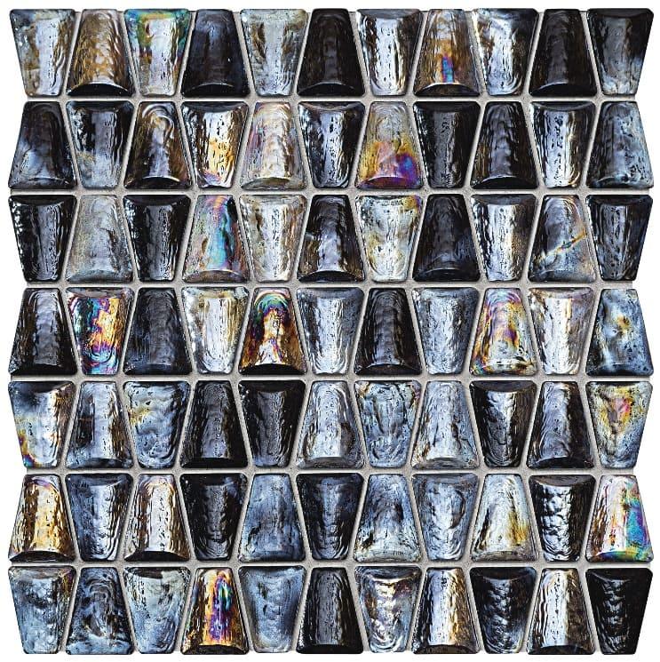 Mozaika ścienna Tubądzin Drops glass grey 30,4x30,6
