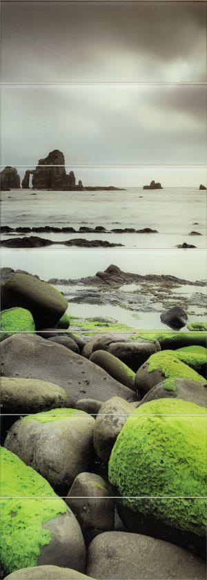 Obraz ścienny szklany 7-elementowy Tubądzin Lemon Stone 74,8x209,8cm