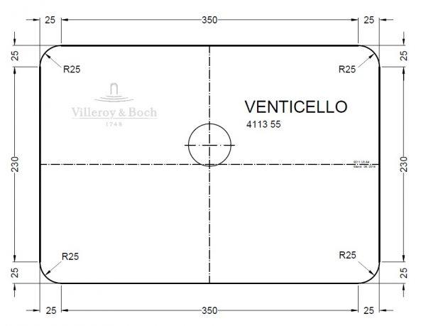 Zdjęcie Umywalka nablatowa prostokątna Villeroy&Boch Venticello 55x36cm 41135501