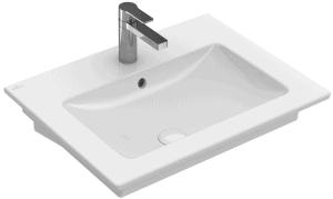 Umywalka ścienna prostokątna Villeroy&Boch Venticello 65x50cm bez otworu 41246701
