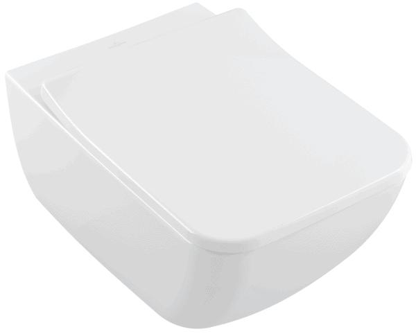 Miska WC wisząca z deską bez kołnierza wewnętrznego Villeroy Boch Venticello 4611R001+9M79S101 + uszczelka wygłuszająca GRATIS
