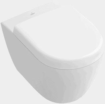 Zdjęcie Miska WC wisząca + deska wolnoopadająca Villeroy Boch Subway 2.0 Compact 56061001+9M69S101 + uszczelka wygłuszająca GRATIS