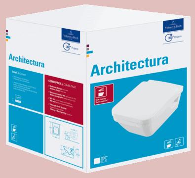 Miska WC wisząca Villeroy Boch Architectura Combi-Pack directflush + deska wolnoopadająca 5685HR01 + uszczelka wygłuszająca GRATIS ///