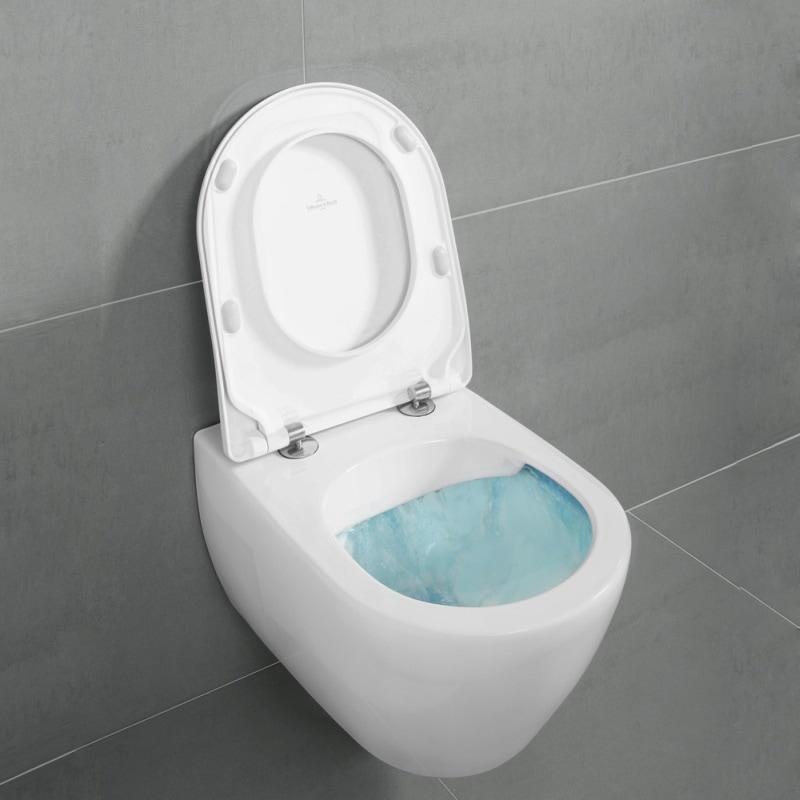 Zdjęcie Miska wisząca WC + deska wolnoopadająca Villeroy Boch Subway 2.0 DirectFlush 5614R001+9M68S101 + uszczelka wygłuszająca GRATIS