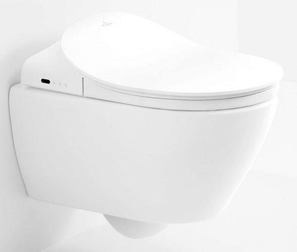 Zdjęcie Miska WC wisząca z deską myjącą Villeroy Boch ViClean Ceramicplus DirectFlush V9901900+V02EL401 +5614R5R1 + uszczelka wygłuszająca GRATIS