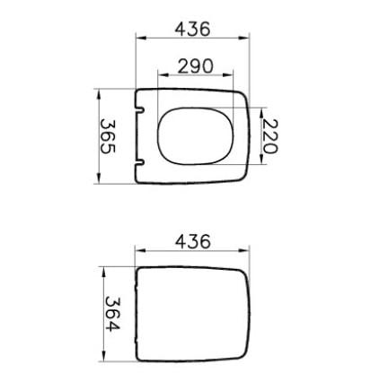 Zdjęcie Deska WC wolnoopadająca Vitra Metropole Slim 102-003-009