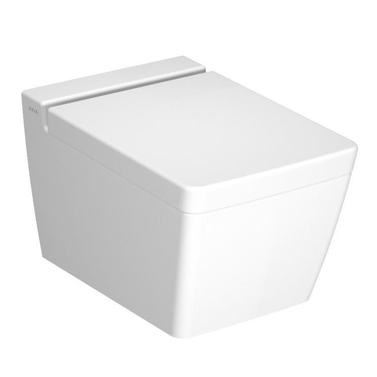 Miska wisząca WC + deska wolnoopadająca Vitra T4 4464B003-0075+76-003-009 @