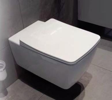 Miska wisząca WC z deską wolnoopadającą Vitra Metropole Slim krótka 49x36cm 5671B003-0075 +102-003-009