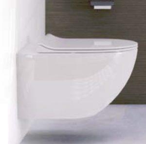 Miska wisząca WC z deską wolnoopadającą Vitra Sento Slim 4448B003-0075+100-003-009