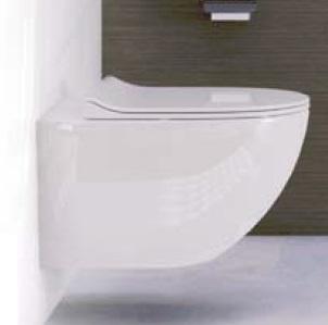 Miska wisząca WC z deską wolnoopadającą Vitra Sento Slim 4448B003-0075+100-003-009 @