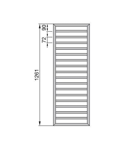 Zdjęcie Grzejnik Zehnder Subway 126,1x60cm Chrom SUBC130-060/CHROM