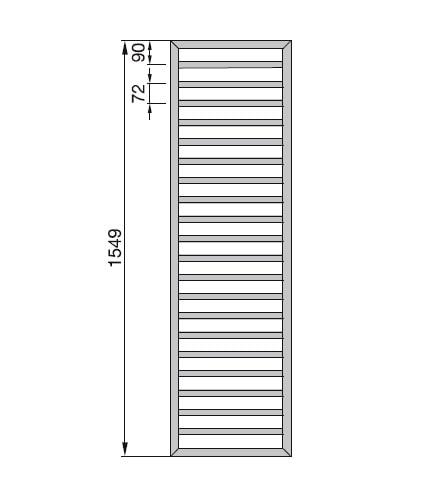 Zdjęcie Grzejnik Zehnder Subway 154,9x45cm Inox SUBI150-045/INOX
