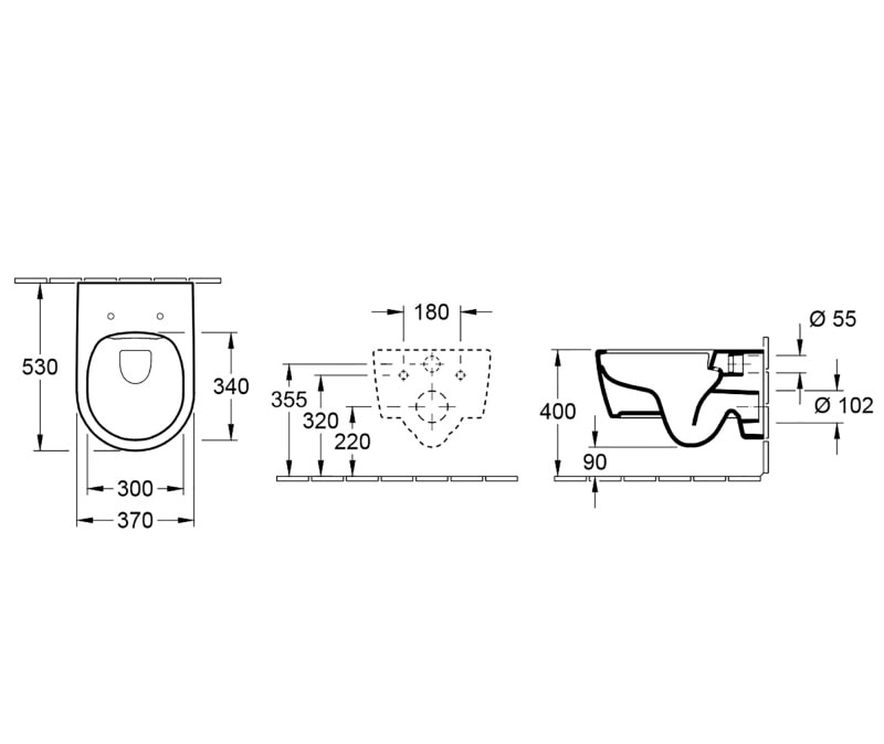 Zdjęcie Miska WC wisząca Villeroy & Boch Avento 5656HR01 Combi-Pack Directflush + deska wolnoopadająca + uszczelka wygłuszająca GRATIS