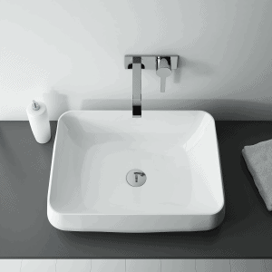 Umywalka nablatowa Elita BIVIO Blat Ceram Biała 54x42cm 145038