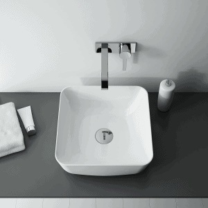 Umywalka nablatowa Elita TURDA Blat Ceram Biała 39x39cm 145043