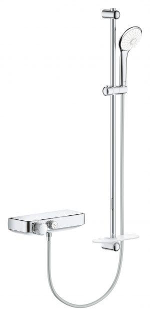 GROHE Grohtherm SmartControl 34721000- bateria termostatyczna do obsługi jednego wyjścia wody z zestawem prysznicowym @