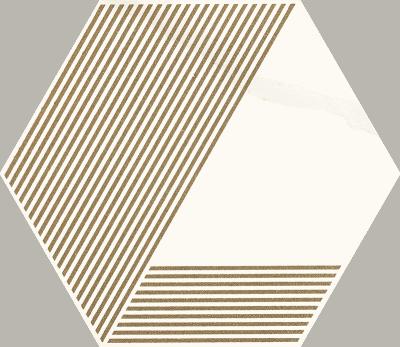 Hexagon A Paradyż Calacatta Mat 17,1x19,8cm
