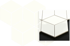 Mozaika Prasowana Paradyż Bianco Romb Hexagon 20,4 x 23,8cm