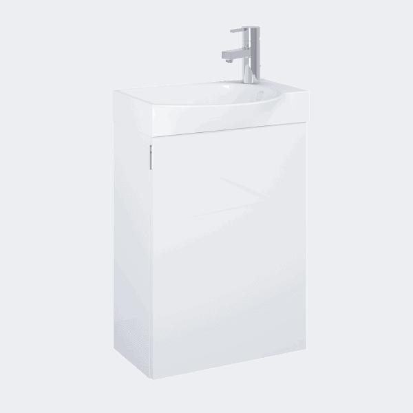 Zdjęcie Set szafka podumywalkowa+umywalka Elita RAVELL 45 1D Biała HG 44x60x24cm 166239