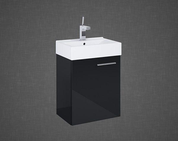 Zdjęcie Set szafka podumywalkowa+umywalka Elita TINY 45 1D BLACK 45x50x29cm 165794