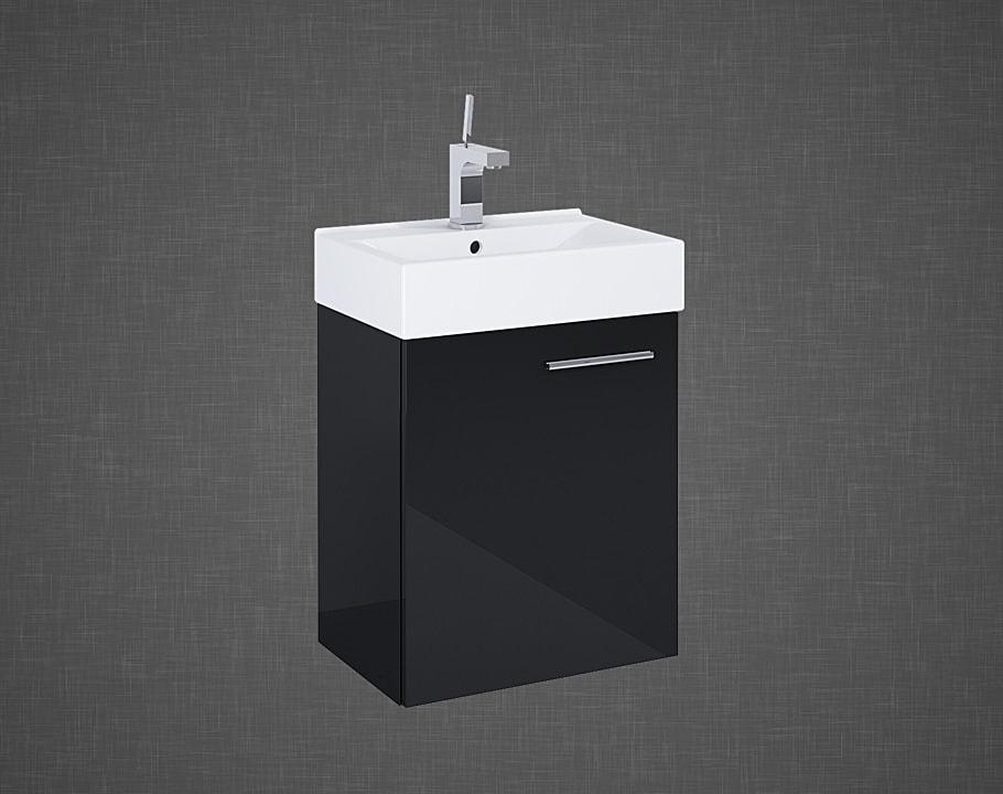 Set szafka podumywalkowa+umywalka Elita TINY 45 1D BLACK 45x50x29cm 165794