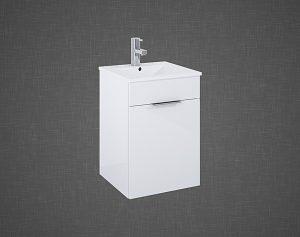 Set szafka podumywalkowa+umywalka Elita QUBO PLUS 40 1D Biała 40x58x40cm 166483
