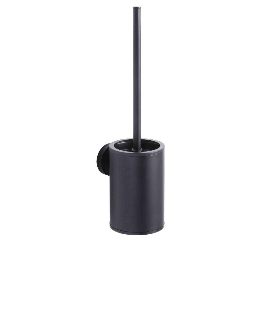 Szczotka WC niska wisząca Stella metalowy pojemnik, wkład z tworzywa Stella Classic czarny mat 07.433-B