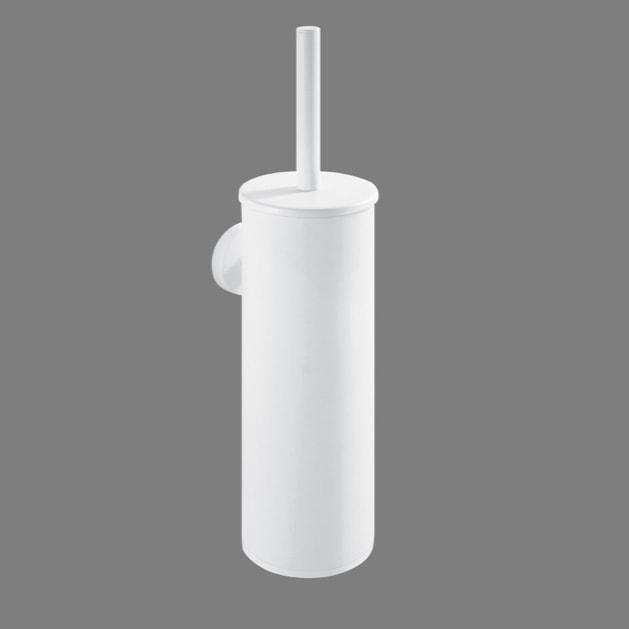 Szczotka WC wysoka wisząca Stella Classic metalowy pojemnik, wkład z tworzywa Classic biała 07.435-W