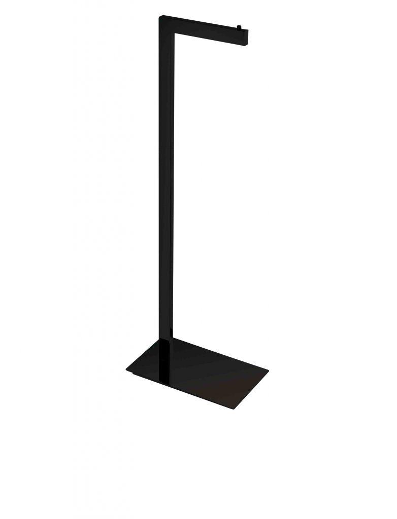 Stojak na papier toaletowy Stella profil i podstawa prostokątne czarny mat 19.207-B _