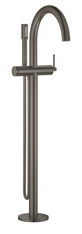 GROHE Atrio - jednouchwytowa bateria wannowa do montażu podłogowego z zestawem punktowym brushed hard graphite 32653AL3 .