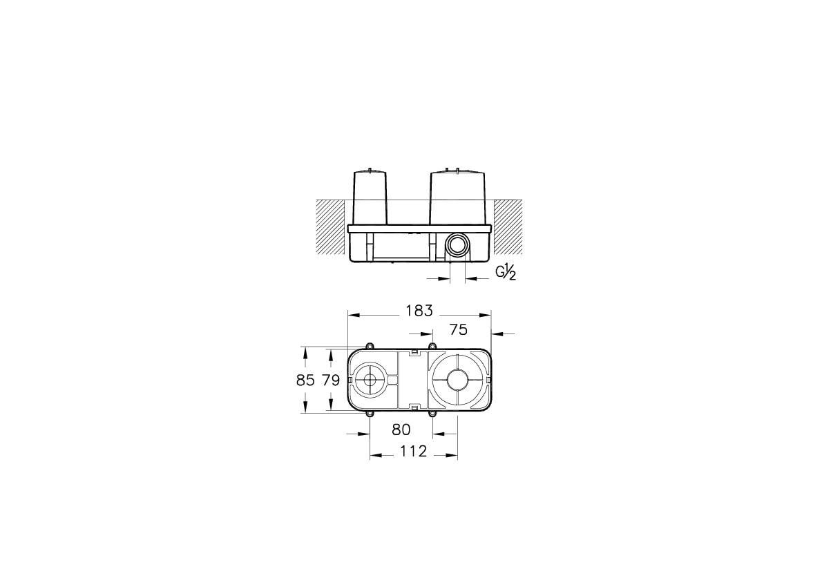 Zdjęcie Element podtynkowy Vitra Nest Trendy do baterii umywalkowej podtynkowej A42230EXP
