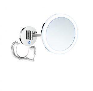 Lusterko kosmetyczne powiększ. 5x, okrągła akrylowa ramka z podświetl. LED na sensor dotyk Stella chrom 22.00451 _