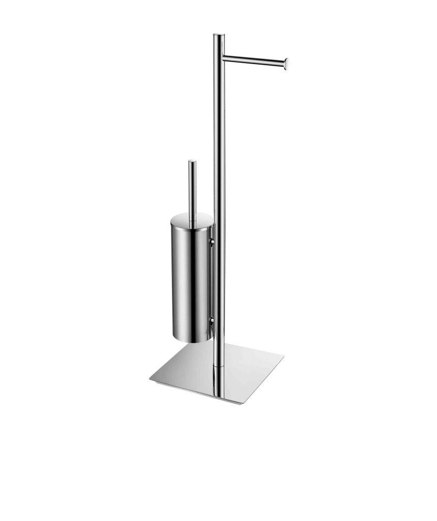 Stojak na papier toalet. + szczotkę WC Stella podstawa kwadratowa Stella Classic chrom 19.211 _