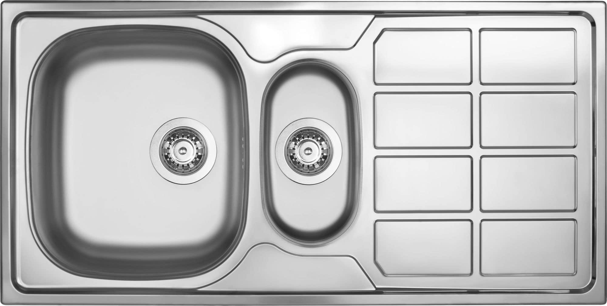 Deante Soul Zlewozmywak 1,5-komorowy z ociekaczem - dekor ZEO351A