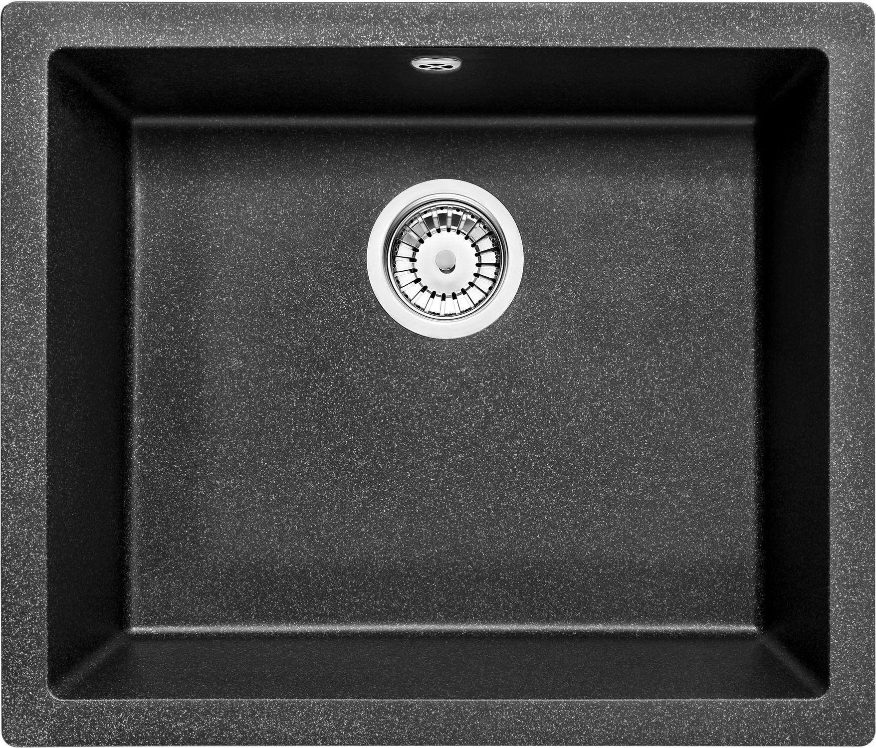 Deante Corda Flush Zlewozmywak 1-komorowy bez ociekacza - grafitowy metalik ZQAG10F