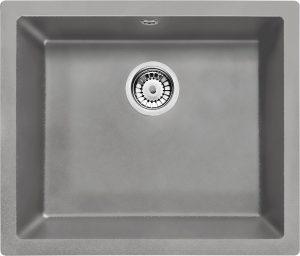 Deante Corda Flush Zlewozmywak 1-komorowy bez ociekacza - szary metalik ZQAS10F