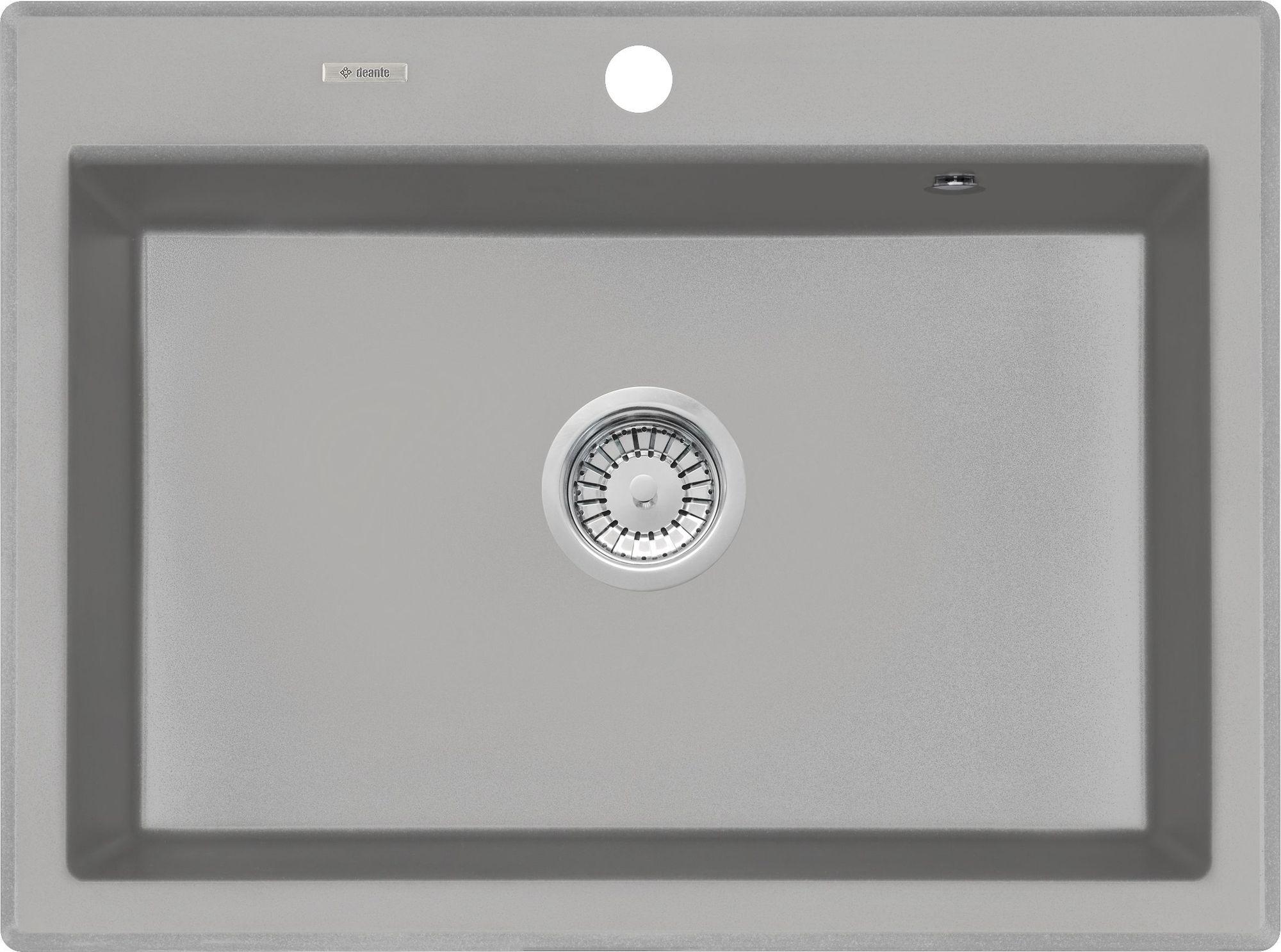 Deante Eridan Zlewozmywak granitowy 1-komorowy bez ociekacza - szary metalik ZQES103
