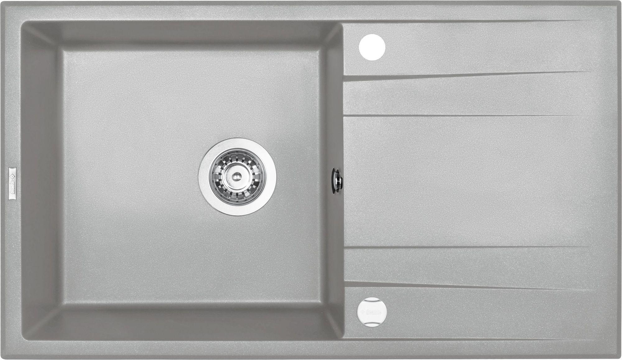 Deante Eridan Zlewozmywak 1-komorowy z ociekaczem - szary metalik ZQES113